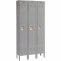 Hallowell U3818-1A-HG Premium Locker Single Tier 18x21x72 3 Door Assembled - Dark Gray