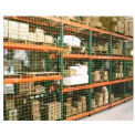 "Pallet Rack Netting One Bay, 123""W x 120""H, 4"" Sq. Mesh, 2500 lb Rating"