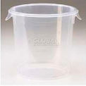 "Rubbermaid Commercial FFG572124CLR - Storage Container, Round, 4 Qt., 8-1/2"" Dia. x 7-3/4""H"