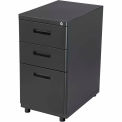 3 Drawer Pedestal Box/Box/File - Black