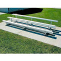 3 Row National Rep Aluminum Bleacher, 7-1/2' Long, Single Footboard