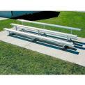 3 Row National Rep Aluminum Bleacher, 15' Long, Single Footboard