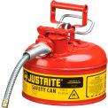 Bidon de sécuritéJustrite® 7210120 de type II de1 gallons avec tuyau de5/8 po