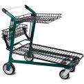 Chariot à provisions VersaCart®, plateau supérieur rétractable, pelouse et jardin, vert foncé