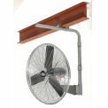 "24"" Deluxe Industrial I-Beam Mounted Fan - Oscillating - 8650 CFM - 1/2 HP"