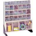 """Quantique pointe sur Bin Floor Stand QFS124-31-Single Sided 24"""" H Ivoire"""