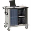 Datum LapTop™ Storage and Charging Cart, 20-Device Capacity, Light Gray