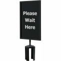 "Queueway Acrylic Sign - Please Wait Here 7X11"" (Single Side)"