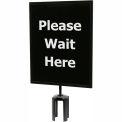 "Tensator Queueway Black 11""x14"" 1/4"" Acrylic Sign - Please Wait Here (Single Side)"