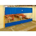 TMI Blue Curtain Wall Partition with Clear Vision Strip 12 x 8 QSCC-144X96