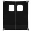 Chase Doors Light to Medium Duty Service Door Double Panel Black 6' x 7' 7284NWD-BK