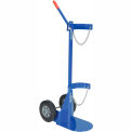 Vestil Cylinder Transport Dolly CYL-D-1-HR with Hard Rubber Wheels