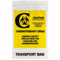 "Reclosable Chemotherapy Drug Transport Bags, 4 mil, 9"" x 12"", Clear, Case of 1000"