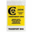 """Chimiothérapie drogue Transport sacs refermables, 4 mil, 12 """"x 15"""", clair, caisse de 500"""