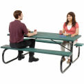 Picnic Table Green Top With Black Frame