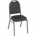 KFI Heavy Duty Banquet Stacking Chair - Black Vinyl /Silver Vein Frame