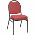 KFI Heavy Duty Banquet Stacking Chair - Burgundy Fabric /Black Frame