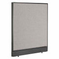 "Office Partition Panel with Raceway, 36-1/4""W x 46""H, Gray"