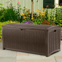Suncast® Wicker Deck Box, 92 Gallon