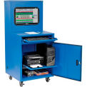 Global Industrial™ Deluxe LCD Industrial Computer Cabinet, Blue, Unassembled