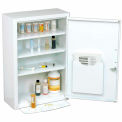 "Global Industrial™ Medicine Cabinet with Pull-Out Shelf, 18""W x 8""D x 27""H, Blanc"