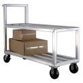 New Age NS557 Heavy Duty Aluminum Stock Cart Open Top Shelf 3000 Lb. Cap.