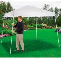 "Portable Slant Leg Pop Up Canopy, 10'L x 10'W x 8'11""H, White"