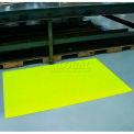"""Soft-Spun Anti-Fatigue Mat, 3/8"""" Thick, 24""""W Cut Length 1' Up To 60', Hi-Viz Yellow"""