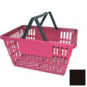 "Plastic Shopping Basket with Plastic Handle, Large, 19-3/8""L X 13-1/4""W X 10""H, Black, Good L ® - Pkg Qty 12"