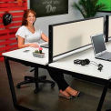Fabric Divider Partition for Double Collaboration Desk