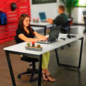 "Collaboration Table - Single - 60""W x 30""D x 30""H - Gray"