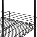 "Ledge 18""L x 4""H for Wire Shelves - Black Epoxy"