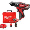 """Milwaukee® M12 FUEL™ 2402-22 1/4"""" Hex Screwdriver Kit W/ FREE 2408-20 3/8"""" Hammer Drill"""