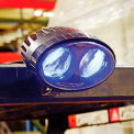 Blue LED Forklift Pedestrian Safety Warning Spotlight.
