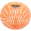 Global Industrial™ Urinal Screen - Citrus 10 Screens/Case