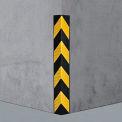 "Rubber Corner Guard 90°, Medium Duty, 31""L"
