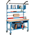 Complete Mobile Packing Workbench Maple Butcher Block Square Edge - 72 x 30