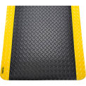 "Diamond Plate Ergonomic Mat 9/16"" Thick 36""X60"" Black/Yellow Border"