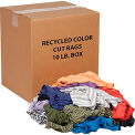 Global Industrial™ Recycled Mixed Color Cut Rags, 10 Lb. Box