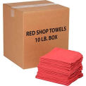 Global Industrial™ 100% Cotton Red Shop Towels, 10 Lb.Box