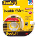 "Scotch® Permanent Double Sided Tape 137 with Dispenser, 1/2"" x 450"", 1 Roll"