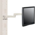 Global Industrial™ Fixed Height LED/LCD Monitor Wall Mount Arm with VESA Plate, Beige