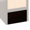 Hallowell KCFB15ME bois/métal hybride casier fermé Base avant 15 x 6 noir