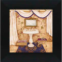 """Galerie d'Art de cristal - Purple Passion évier W 1-16"""" x 16"""" H, Straight Fit encadré"""