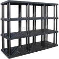 """Structure plastique ventilé Shelving, 96 """"L x 36 «D x 75» H, Black"""