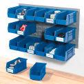 Panneau Grille Bin 36 mural x19 avec 18 bleu 5-1/2 x 11 x 5 bacs empilables