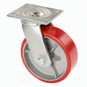 "Global Industrial™ Heavy Duty Swivel Plate Caster 6"" Polyurethane Roue 800 lb Capacité"