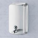 Distributeur à savon liquide vertical en acier inoxydable Global Industrial™ - 1000 ml
