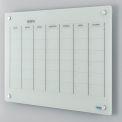 Glass Calendar Whiteboard - 36 x 24 - Magnetic - White
