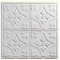 Genesis Designer Antique PVC Ceiling Tile 752-00, Waterproof & Washable, 2'L X 2'W, White - 12/Case